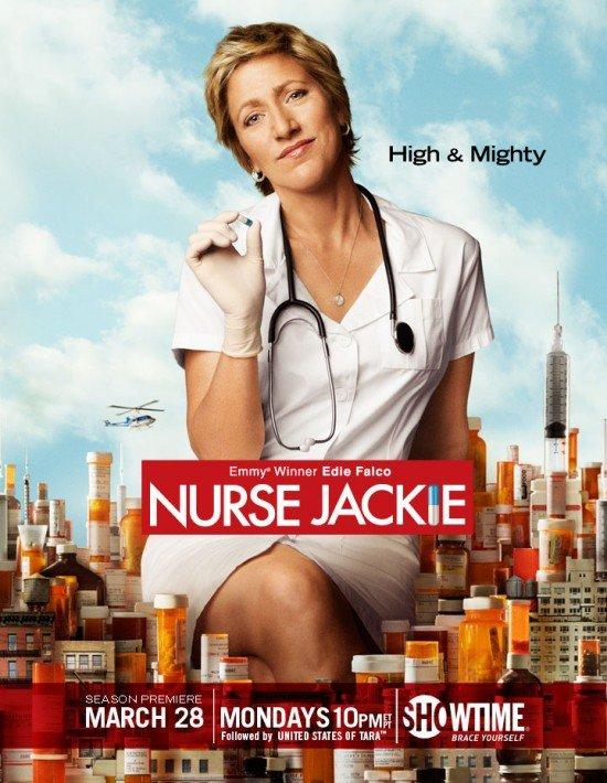nurse jackie rare season 3 promo poster edie falco sopranos oz peter facinelli sexy hot rare