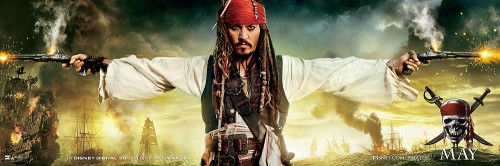 pirates of the caribbean on stranger tides johnny depp captain jack sparrow rare promo one sheet movie poster hot benny and joon blow at words end