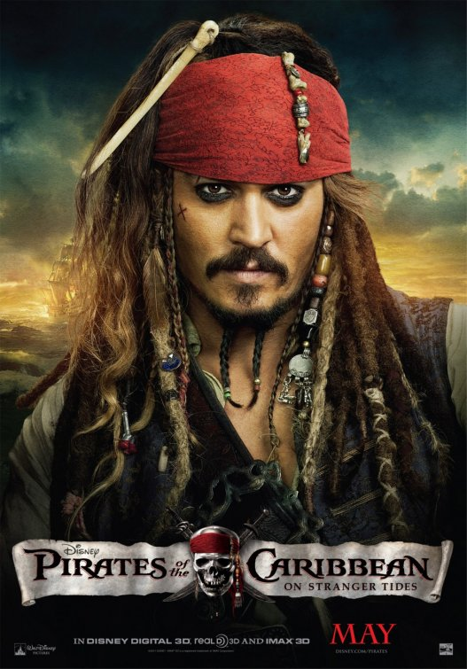 Pirates Of The Caribbean On Stranger Tides johnny depp captain jack sparrow movie promo poster mini one sheet rare hot new