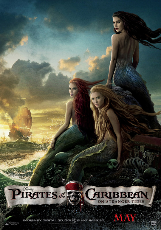 Astrid Berges-Frisbey pirates of the caribbean 4 on stranger tides mermaids individual promo mini poster rare hot sexy damn...