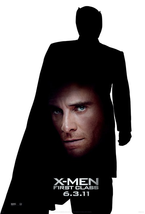 Michael Fassbender x men first class individual mini promo one sheet movie poster rare hot Erik Lehnsherr