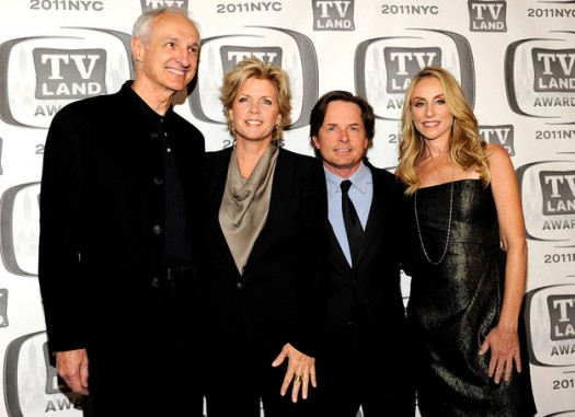 family ties cast reunites tv land awards new york michael j fox tracy pollen michael gross keaton alex meredith baxter steven elise