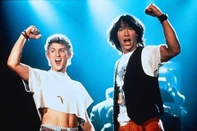 bill and ted's excellent adventure press promo still alex winter shirtless keanu reeves rare promo hot bogus journey damn ted theodore logan bill s preston esquire
