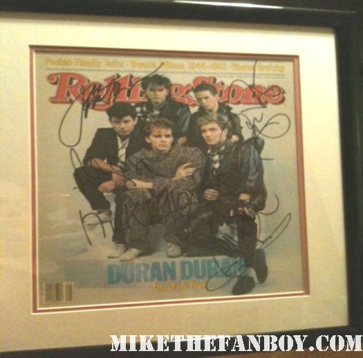 duran duran hand signed autographed rolling stone magazine 1984 rare framed promo hot simon lebon the reflex union of the snake sunshine