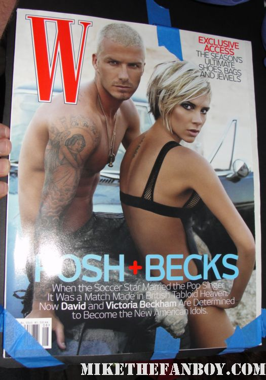david beckham shirtless sexy hot tatoo w magazine rare hot fucking damn victoria beckham rare signed w magazine
