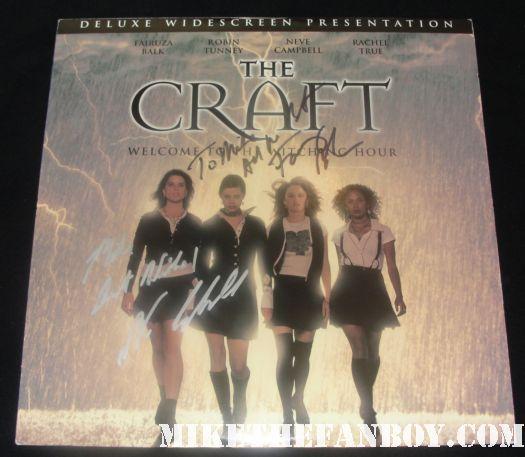 the craft signed autograph laserdisc neve campbell fairuza balk scream laserdisc rare poster promo