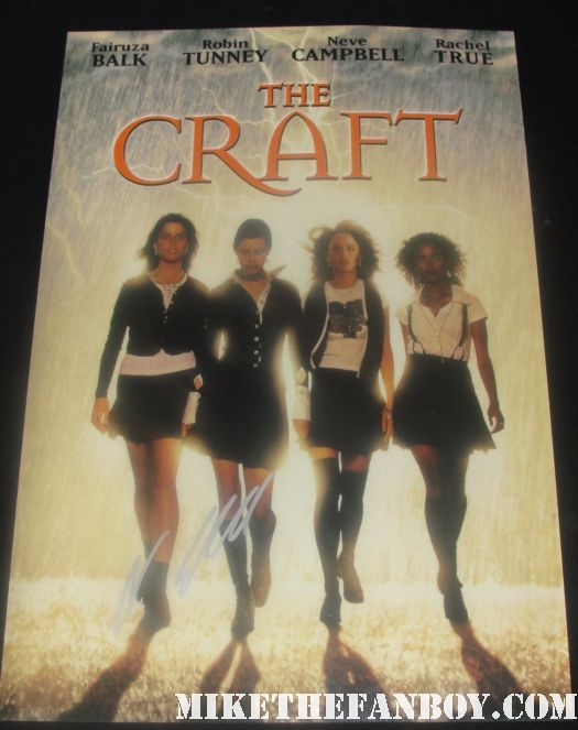 neve campbell signed the craft promo mini poster rare fairuza balk rare witches hot laserdisc