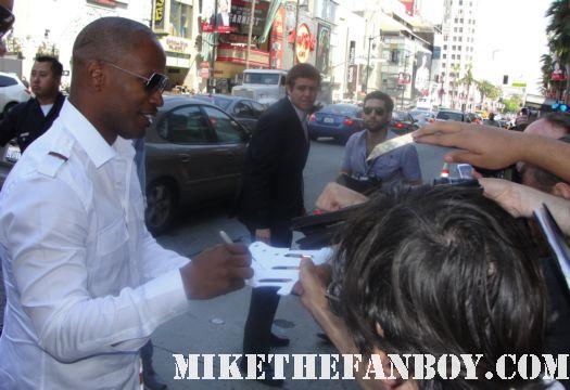 jamie foxx signed autograph rare promo poster hot sexy damn fine pickguard ray rio promo mini poster premiere movie