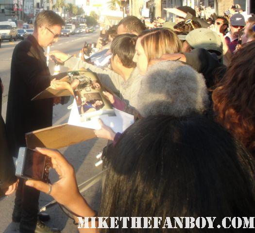 david arquette signed autograph dewey riley scream 4 world premiere poster fans hot sherriff