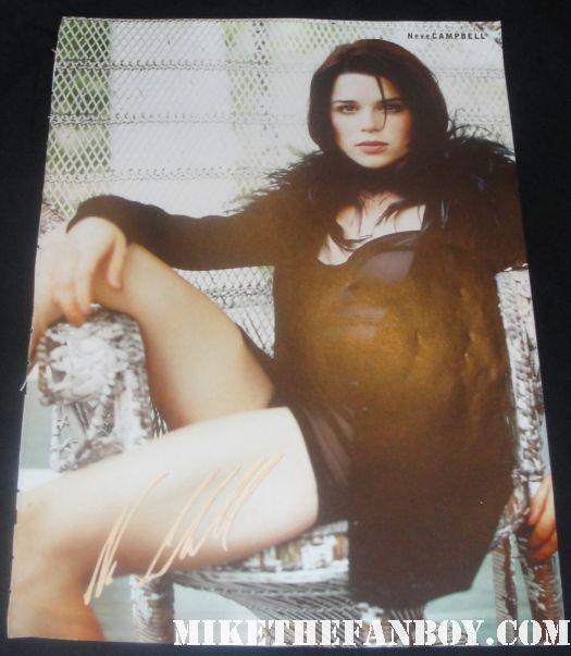 neve campbell signed autograph neve campbell us magazine book scream 4 world premiere sidney prescott hot
