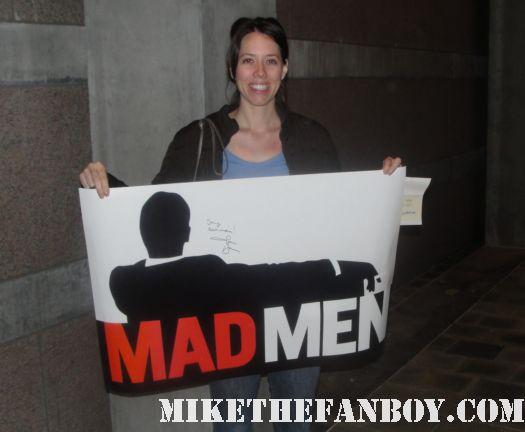 jon hamm signed mad men promo poster sally ann carrillo promo rare autograph signature rare