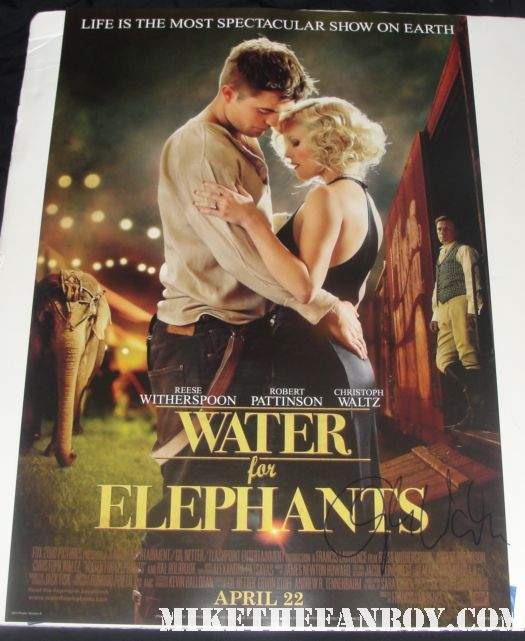 christoph waltz signed autograph inglorious basterds water for elephants promo mini poster reese witherspoon rob pattinson