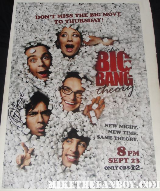 kunal nayyar signed autograph big bang theory promo mini poster rare hot promo rare