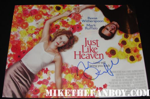 rare just like heaven mini uk quad poster hand signed mark ruffalo reese witherspoon hot sexy promo poster one sheet