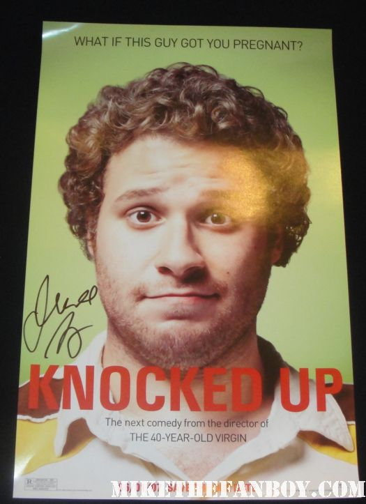 judd apatow signed autograph promo knocked up one sheet movie poster mini rare katherine heigl seth rogan hilarious