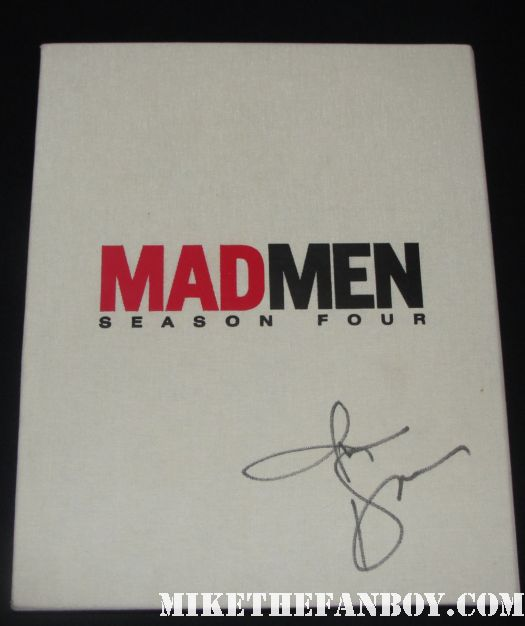mad men signed autograph season 4 presskit press kit dvd jon hamm rare promo amc hot