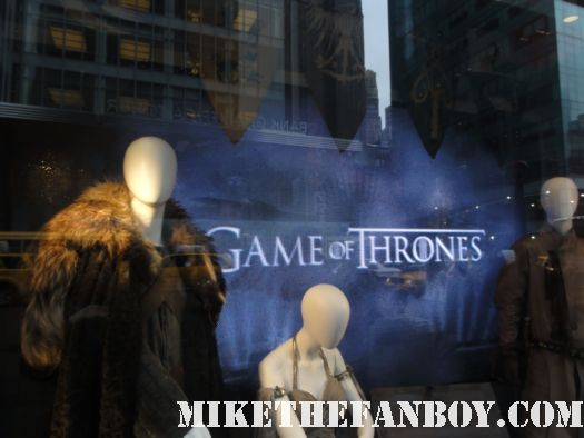 game of thrones hbo prop and costume display rare fur outfit costume sean bean lena headey new york city rare