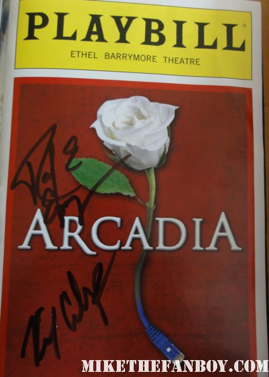 arcadia playbill signed by billy crudup almost famous watchemen pushing daisies raul esparza rare promo tom stoppard hot and sexy people