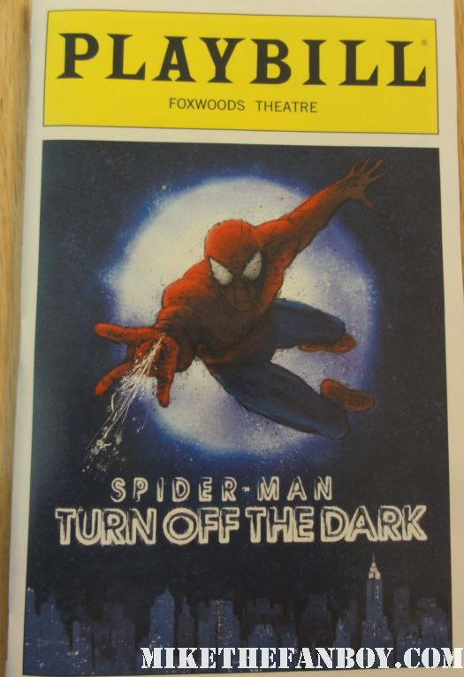 julie taymor spider man turn off the dark Across the universe lion king u2 playbill bono the edge reeve carney rare promo