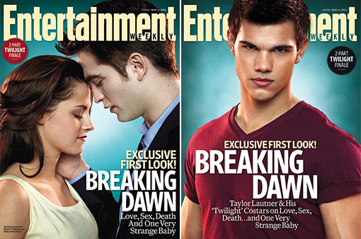 entertainment weekly twilight magazine covers taylor lautner abduction kristen stewart rob pattinson rare hot sexy twilight breaking dawn