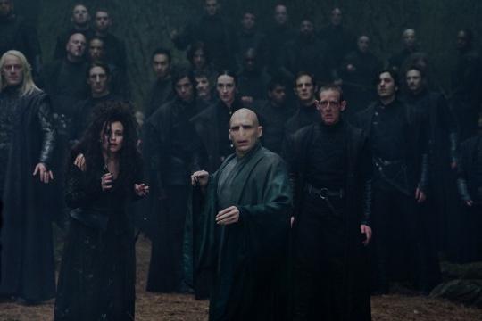 Harry Potter and the Deathly Hallows Part II press still daniel radcliffe emma watson rupert grint rare hot promo rare helena bonham carter bellatrix lestrange voldemort