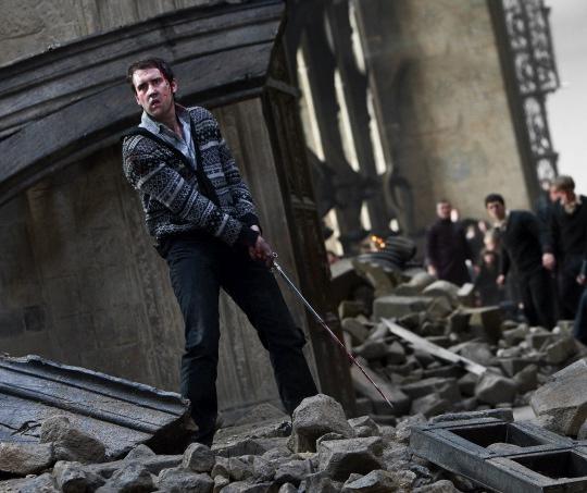 Harry Potter and the Deathly Hallows Part II press still Matthew Lewis Neville Longbotom Wand rare hot promo rare harry potter emma watson daniel radcliffe rupert grint