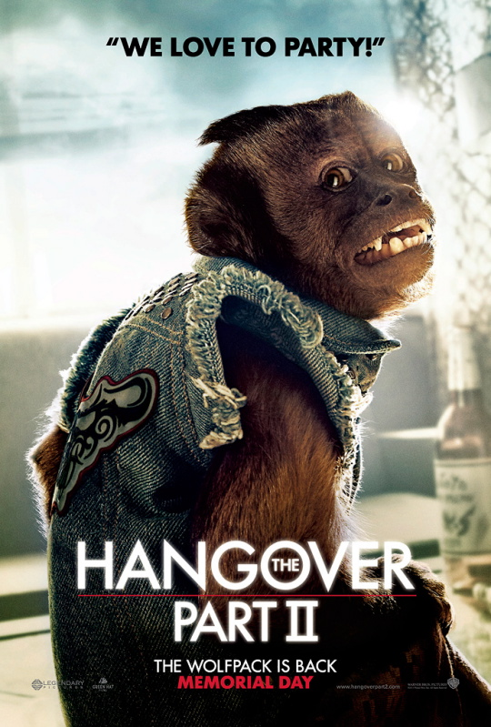 the hangover part 2 part II monkey individual character poster rare hot promo mini uk movie