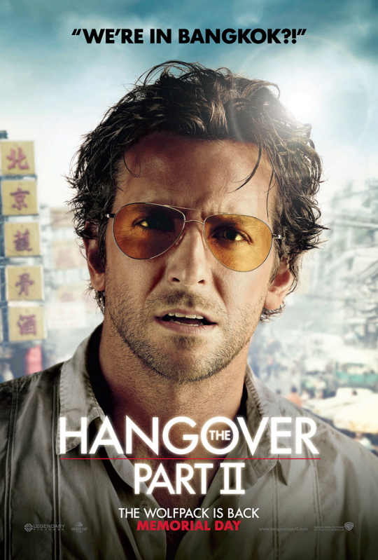 bradley cooper hot sext Phil Wenneck the hangover part 2 part II individual character poster rare hot sexy damn fine abs