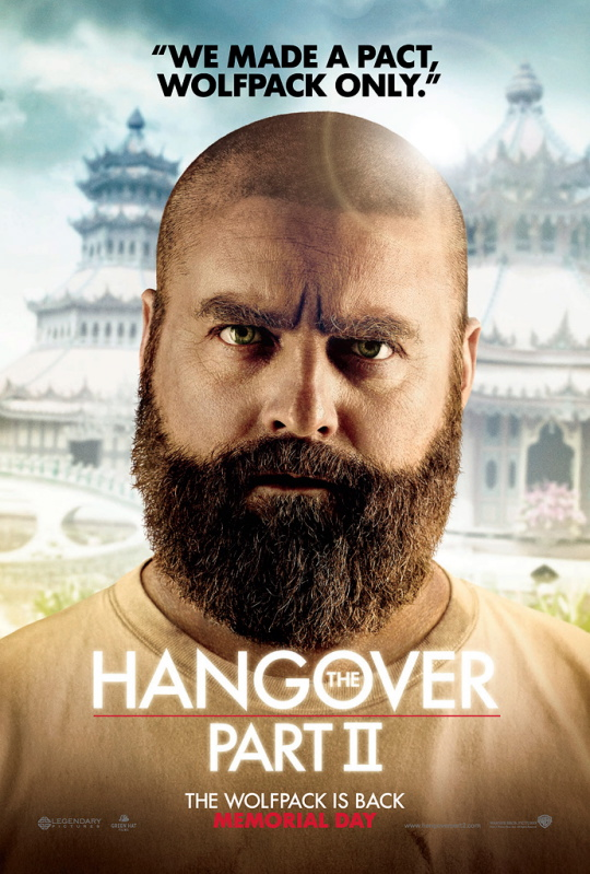 Zach Galifianakis Alan Garner the hangover part 2 part II individual character poster mini promo poster due date bored to death
