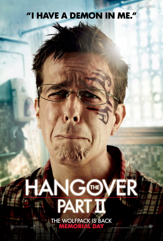 the hangover 2 individual character poster rare hot sexy damn fine Stu Price ed helms rare tatoo face promo