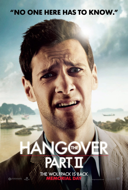 Doug Billings justin bartha hangover part 2 part II individual character poster rare hot sexy promo national treasure damn fine promo