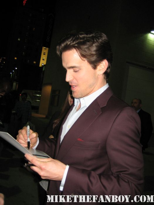 Matt Bomer signed autograph promo white collar guiding light hot sexy dance damn fine