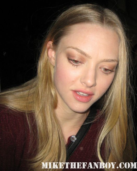 Amanda Seyfried signed autograph red riding hood mean girls letters to juliet dear john sexy hot rare promo poster stunning