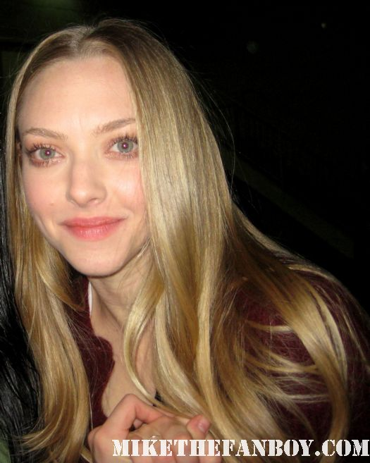 Amanda Seyfried Mean Girls Red Riding hood Dear John Letters to juliet rare signed autograph sexy gorgeous hot rare stunning beautiful