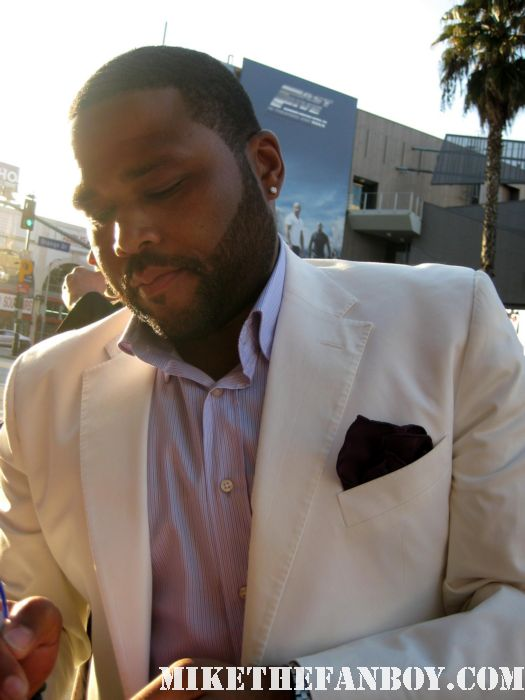 Anthony Anderson Deputy Perkins scream 4 los angeles premiere signed autograph rare back up plan