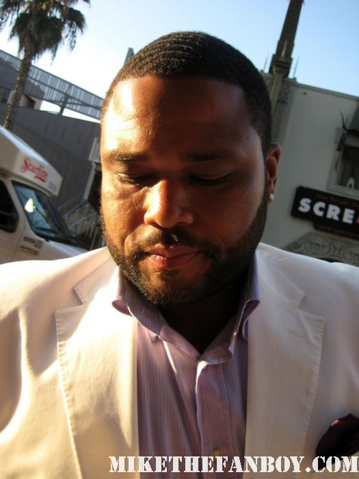 Anthony Anderson Deputy Perkins scream 4 world premiere rare signed autograph back up plan los angeles funny