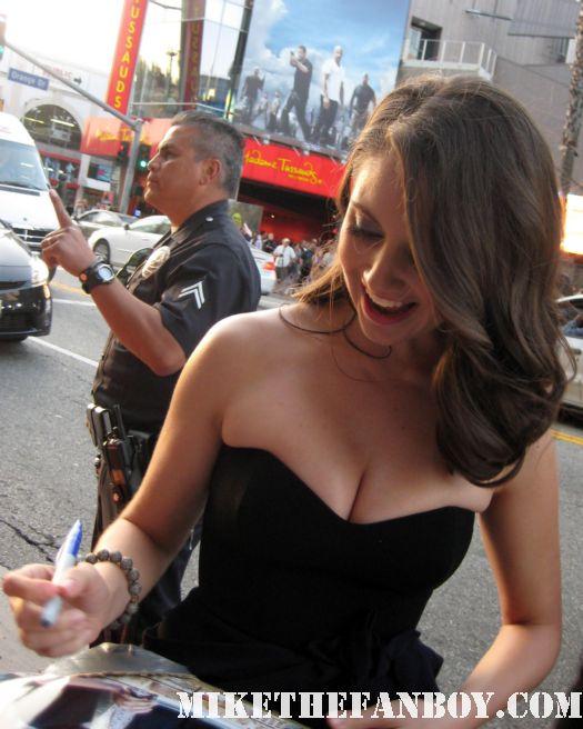 Alison Brie Rebecca Walters signed autograph scream 4 scre4m premiere los angeles rare signed autograph mad men community
