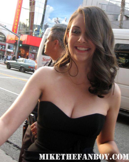 Alison Brie Rebecca Walters scream 4 scre4m los angeles premiere rare signed autograph hot mad men community rare promo poster