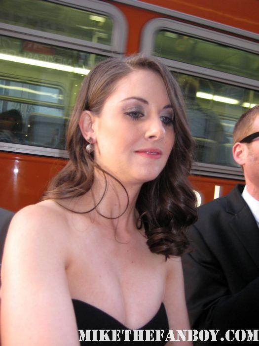 Alison Brie Rebecca Walters signed autograph rare scream 4 scre4m los angeles premiere hot sexy world mad men trudy community