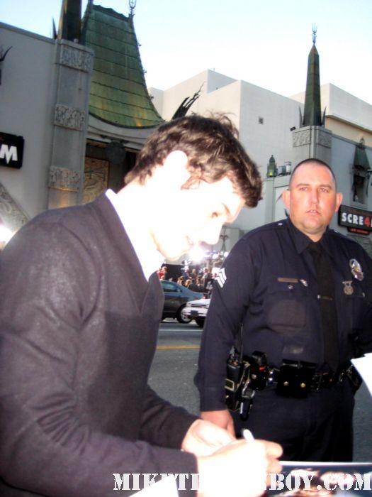 Detective Hoss  adam brody signed autograph rare scream 4 los angeles world premiere scre4m the oc signed jennifer's body hot sexy