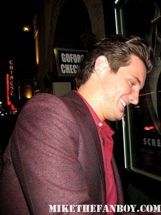 Nico Tortorella Trevor Sheldon scream 4 scre4m los angeles world premiere hot sexy damn fine rare promo signed autograph premiere lickable