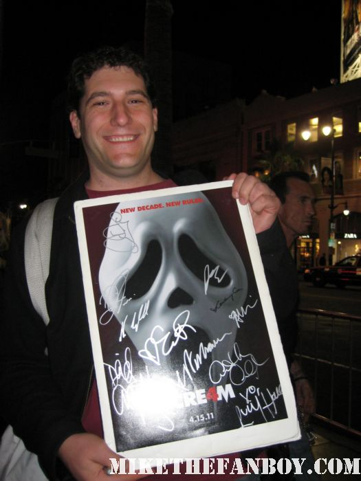mike the fanboy mike sametz scream 4 scre4m world premiere rare hot sexy signed autograph fan fandom rare