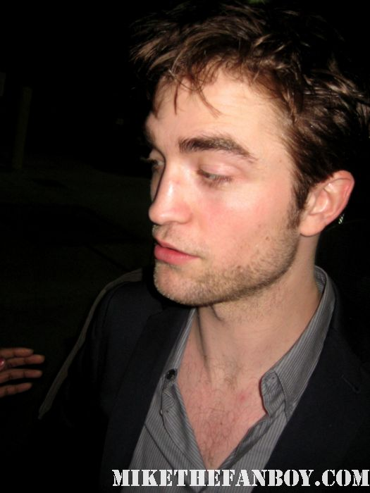 robert pattinson rob pattinson signed autograph rare hot sexy twilight rare dvd new moon water for elephants promo poster jimmy kimmel