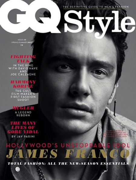 james franco GQ style magazine cover rare black and white sexy hot sexy magazine cover rare black and white