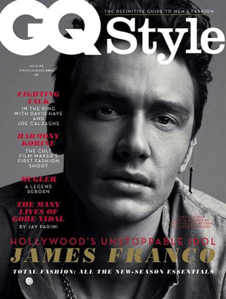 james franco GQ style magazine cover rare black and white sexy hot sexy magazine cover rare black and white