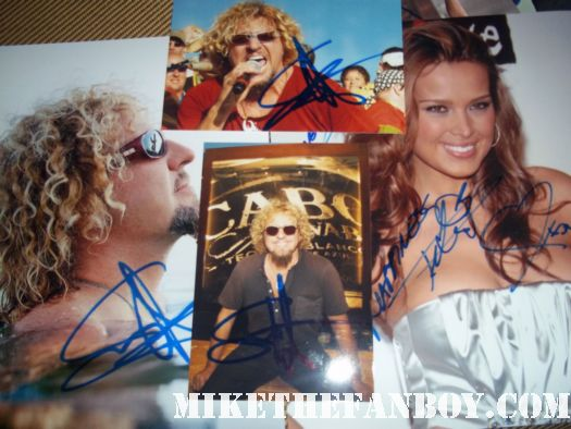 Petra Němcová and sammy haggar van halen dancing with the stars signed autograph rare promo photo poster hot sexy damn fine czech model photoshoot