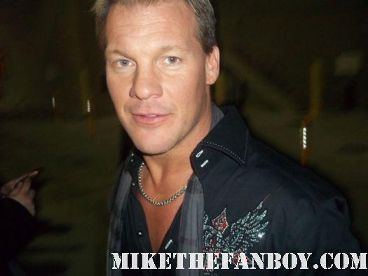 WWE Wrestling Star Chris Jericho fozzy lead singer shirt rare signed autograph hot sexy huge bodybuilder shirtless singer rare promo