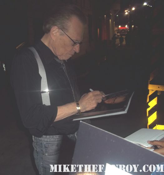 larry king live signed autograph larry king broadcasting legend rare promo talk show taping jimmy kimmel fan friendly autograph signed promo