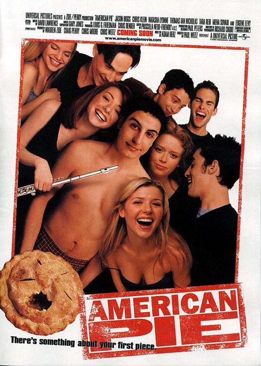 american pie one sheet promo poster jason biggs promo eugene levy alyson hannigan flute chris klein mena suvari
