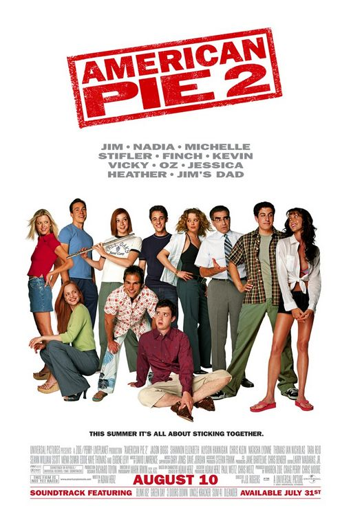 american pie 2 one sheet movie poster rare sean william scott stifler alyson hannigan michelle tara reid chris klein